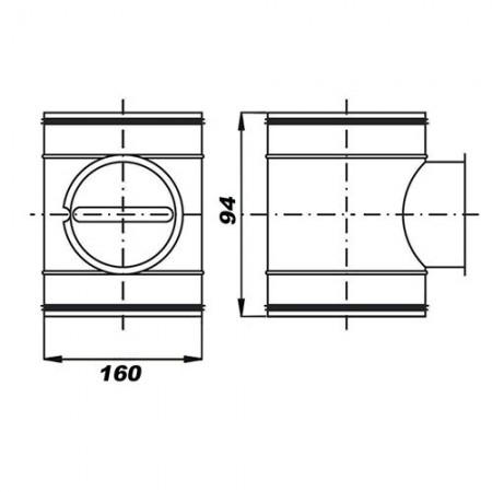 Anemostat plastový 200mm A200VRF - NAŽLOUTLÉ ZEVNITŘ