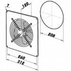 Průmyslový ventilátor DALAP TF 200