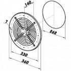 Průmyslový ventilátor DALAP TFO 250