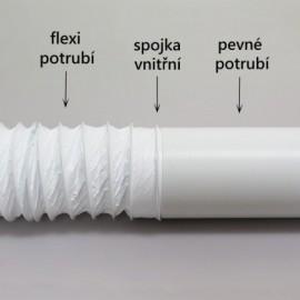 Flexi potrubí plastové kulaté Polyvent - Ø125mm/3m