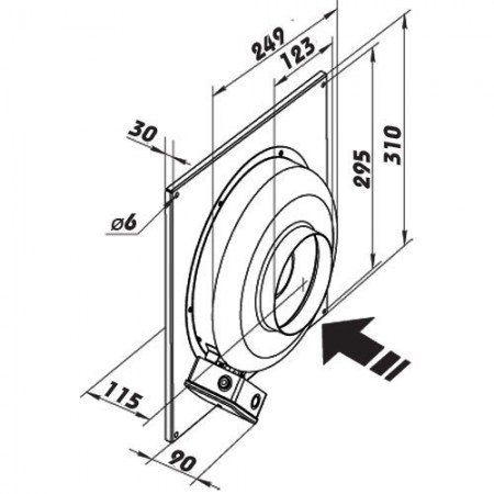 Ventilátor do bytu Vents 125 PFL - kruhový - s ložisky