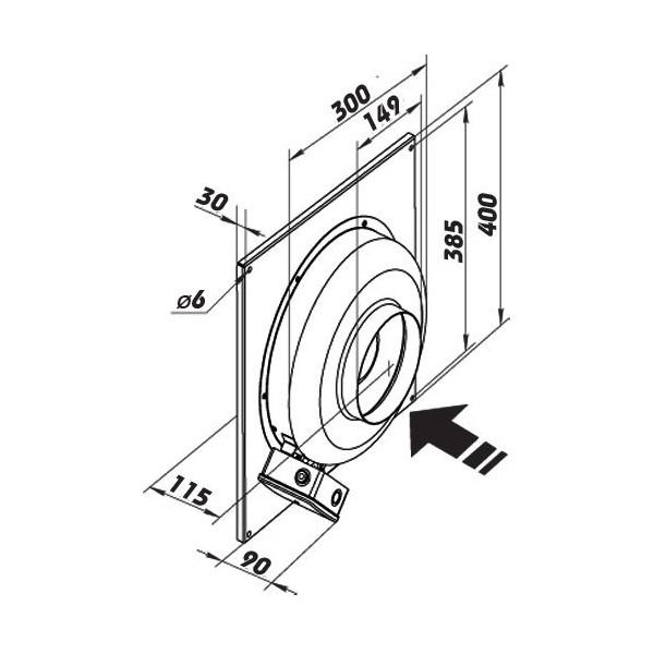 Domácí ventilátor Vents 150 PFL - kruhový