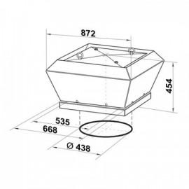 Střešní ventilátor Dalap ALBATRO 400V, 450