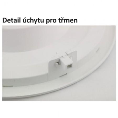 Stolní lupa s osvětlením, 3D, uchycení na stůl, bílá