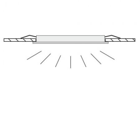 Stolní lupa s osvětlením LED, 5D, 2,25X, se svorkou, bílá