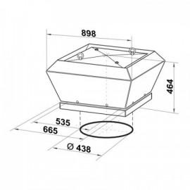 Střešní ventilátor Dalap ALBATRO PROFI 500