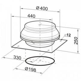 Stropní přisazený LED panel LED60 FENIX-R matt chrome 12W, teplá bílá