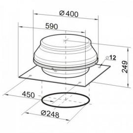 Střešní ventilátor Dalap ARKAS 250