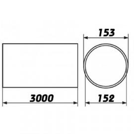 Flexi potrubí plastové kulaté Polyvent - Ø150mm/3m