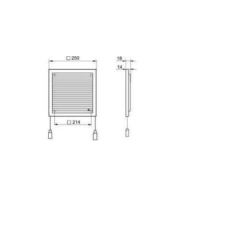 Větrací mřížka nerezová kruhová 125 mm UVL-125