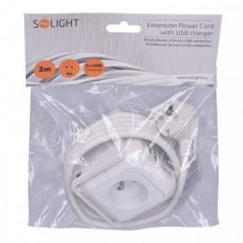 Solight prodlužovací přívod - kostka 4x zásuvka