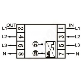 Elektroměr DTS 353-L 80A, 4,5mod., LCD, 3-fáz., 1-tar., podružný