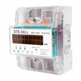 Elektroměr DTS 353-L 80A, 4,5mod., LCD, třífázový, podružný