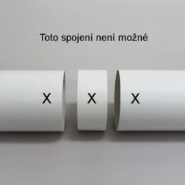 Vnější spojka pro spojení PVC tvarovek Ø150mm