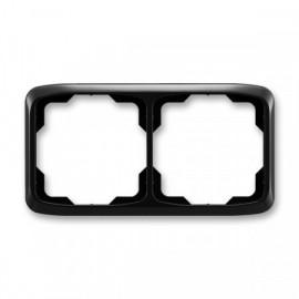 Rámeček ABB TANGO 3901A-B20 N dvojnásobný vodorovný černý