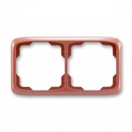 Rámeček ABB TANGO 3901A-B20 R2 dvojnásobný vodorovný vřesově červený