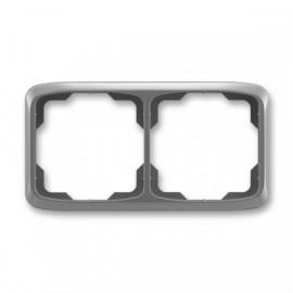 Rámeček ABB TANGO 3901A-B20 S2 dvojnásobný vodorovný kouřově šedý
