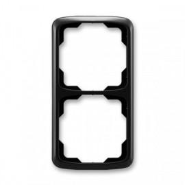 Rámeček ABB TANGO 3901A-B21 N dvojnásobný svislý černý
