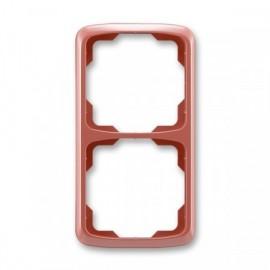 Rámeček ABB TANGO 3901A-B21 R2 dvojnásobný svislý vřesově červená
