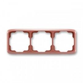 Rámeček ABB TANGO 3901A-B30 R2 trojnásobný vodorovný vřesová červená