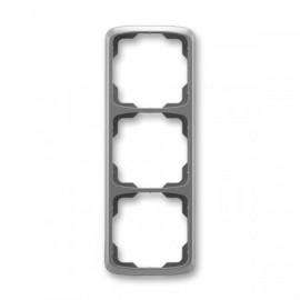Rámeček ABB TANGO 3901A-B31 S2 trojnásobný svislý kouřově šedý