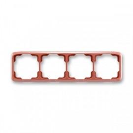 Rámeček ABB TANGO 3901A-B40 R2 čtyřnásobný vodorovný vřesově červený