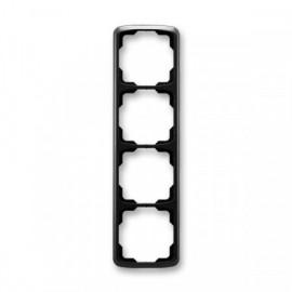 Rámeček ABB TANGO 3901A-B41 N čtyřnásobný svislý černý