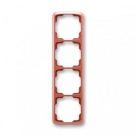 Rámeček ABB TANGO 3901A-B41 R2 čtyřnásobný svislý vřesově červený
