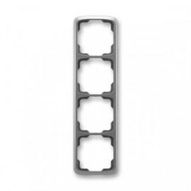 Rámeček ABB TANGO 3901A-B41 S2 čtyřnásobný svislý kouřově šedý