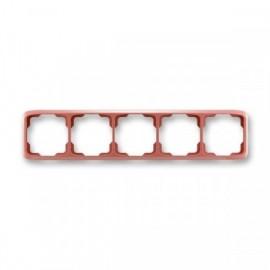 Rámeček ABB TANGO 3901A-B50 R2 pětinásobný vodorovný vřesově červený
