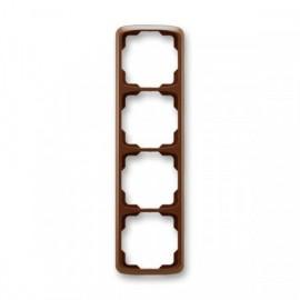 Rámeček ABB TANGO 3901A-B41 H čtyřnásobný svislý hnědý