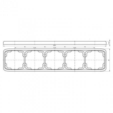 LED osvětlení kuchyňské linky TL2001-28SMD/5W, bílé