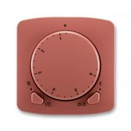 Termostat ABB TANGO 3292A-A10101 R2 univerzální otočný vřesově červený