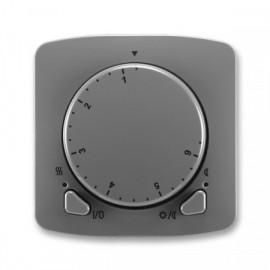 Termostat ABB TANGO 3292A-A10101 S2 univerzální otočný kouřově šedý