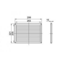 Větrací mřížka plastová 299 x 221 mm bez příruby MV170s - vert.