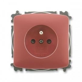 Zásuvka ABB TANGO 5519A-A02357 R2 vřesově červená