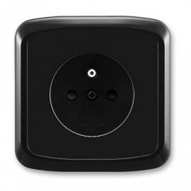 Zásuvka ABB TANGO 5519A-A02357 N kompletní černá