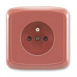 Zásuvka ABB TANGO 5519A-A02357 R2 kompletní vřesově červená