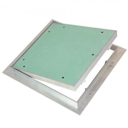 PVC mřížka s přírubou a mechanicky ovládanou žaluzií - Ø 100 mm, bílá