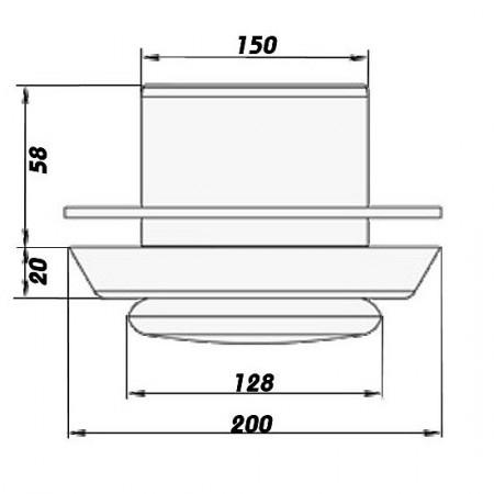 Větrací mřížka z vysoce kvalitního extrudovaného hliníku - 100x100 mm, šedá