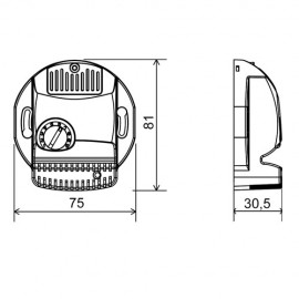 Čidlo vlhkosti CV701 - rozměry