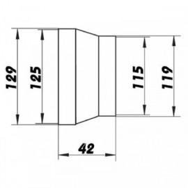 Redukce pro kruhové potrubí Ø 120/125 mm