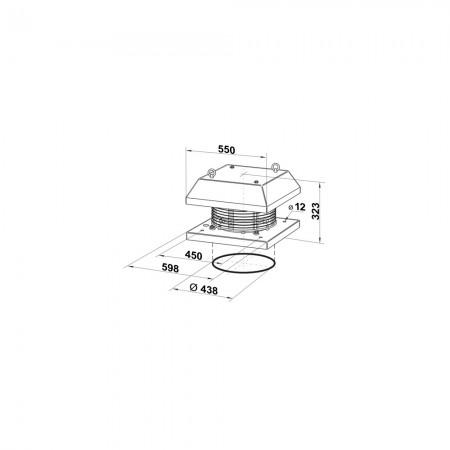 Ventilátor s teplotním čidlem DALAP Turbine P 315 T