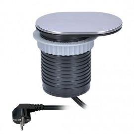 Solight USB vestavná zásuvka s posuvným víčkem 1 x 230V + 1 x USB