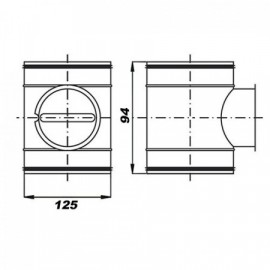 Regulační klapka mechanická 125 mm