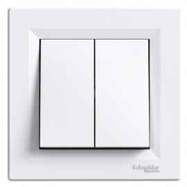 Vypínač Asfora č.5 sériový - lustrový, bílý