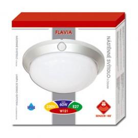 Venkovní svítidlo s čidlem W121-BI FLAVIA - bílá