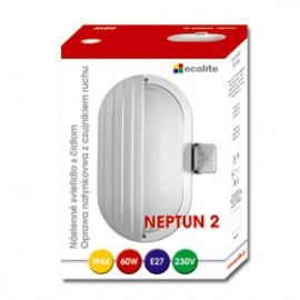 Svítidlo s čidlem pohybu NEPTUN 2 bílý, 1xE27, 27x19cm, IP44