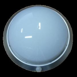 Svítidlo s čidlem pohybu FLAVIA 1xE27, 30cm, IP44, stříbrné