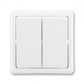 Vypínač dvojitý č.5B /č.6+6/ bílý 3553-52289 B1